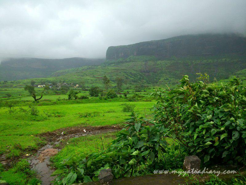 Western Ghats in the rains on the Trimbakeshwar -Ghoti road near Nashik, Maharashtra