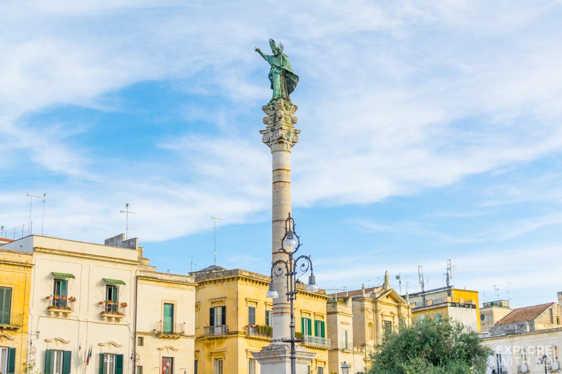 Saint Oronzo's Statue in Lecce