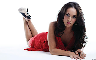 Fiery Megan Fox In Red Outfit