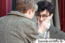 First pictures: Daniel Radcliffe filming on set of Kill Your Darlings
