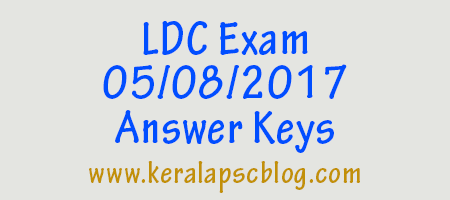 Lower Division Clerk [LDC] Exam 05-08-2017 Answer Keys