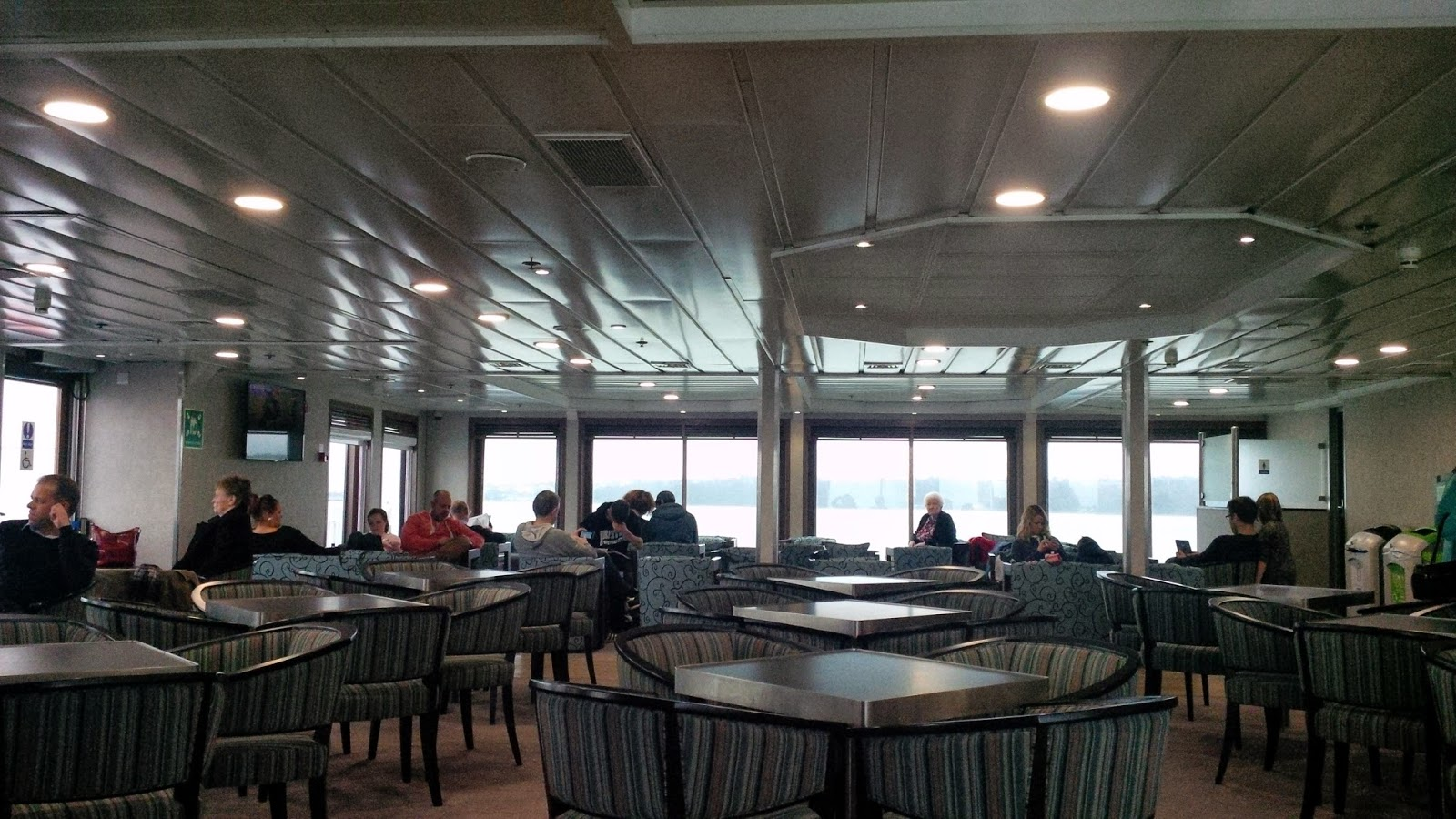 The coffee lounge on the ferry to the Isle of Wight
