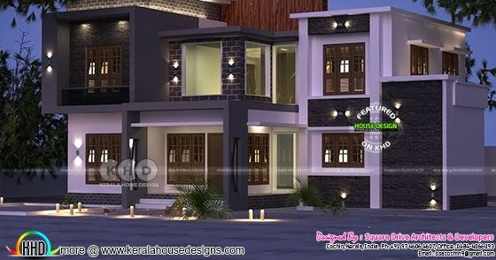 223 Sq M 4 Bedroom Attached Modern House Kerala Home