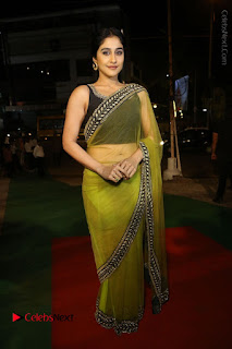 Actress Regina Stills in Green Saree at Vivaha Bhojanambu Restaurant Launch  0169.JPG