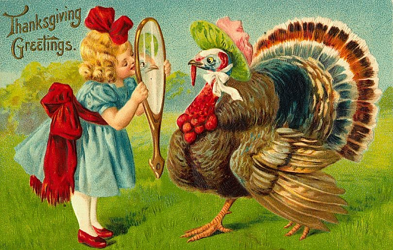 Funny And Cute Vintage Thanksgiving Postcards