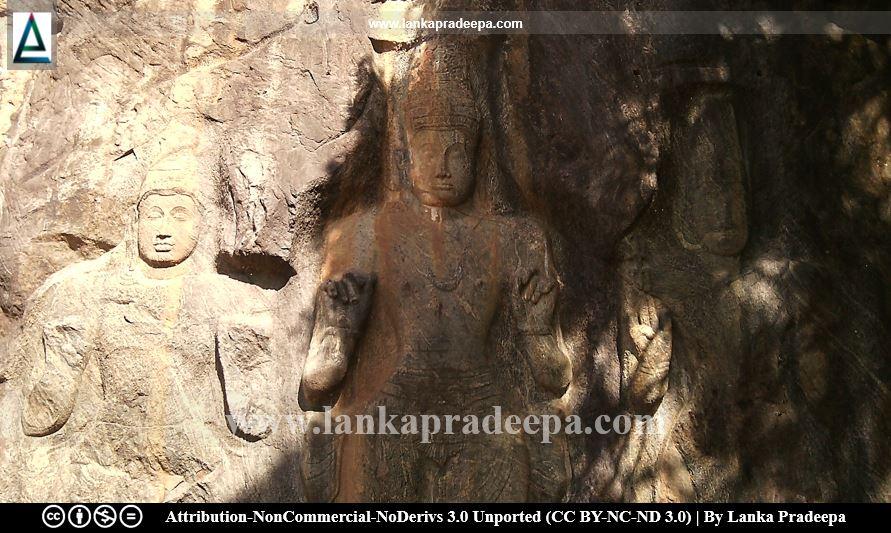 An unidentified figure, Maithri, Vajrapani