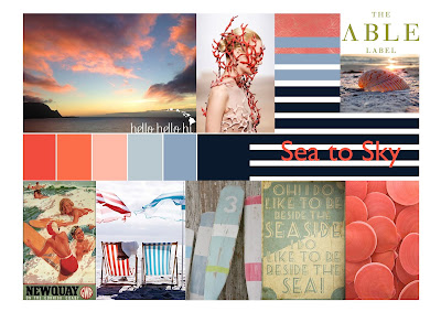 The Able Label summer mood board, sea to sky