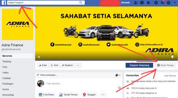 fanspage facebook adira untuk mengetahui informasi nomor pembayaran kendaraan
