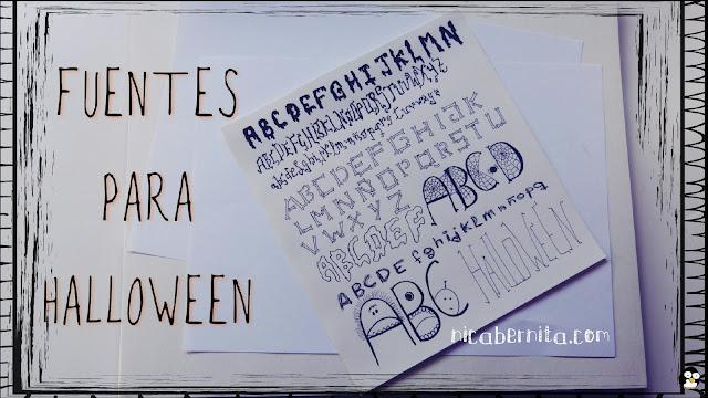 fuentes para halloween, letras terroríficas, tipografía para halloween. Nica Bernita