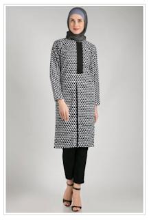 Model Baju Lebaran Monokrom Trend Terbaru 2016 Muslimah Cantik