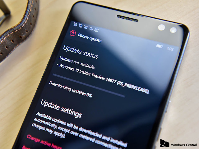 Review : Fitur Windows Insider 14977 Mobile