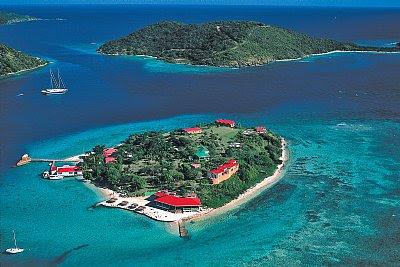 Marina Cay : ilet de Tortola vue aérienne