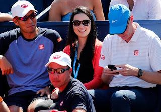Kei Nishikori Girlfriend Honami Tsuboi Supporting Him At Tennis Match