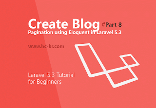 pagination with Eloquent & Query Builder in Laravel 5.3