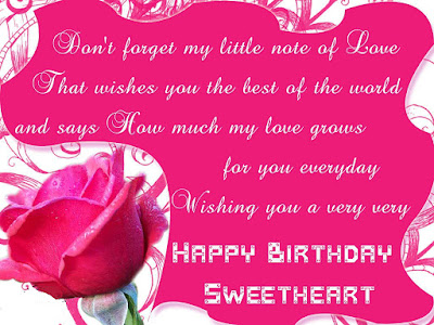 Happy Birthday Wishes And Quotes For the Love Ones: don't forget my little note of love that wishes you the best of the world