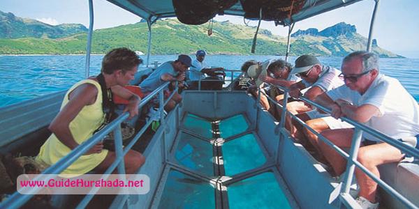 رحلة جلاس بوت الغردقة , متعة مشاهدة الشعب المرجانيه و اسماك البحر الأحمر النادرة