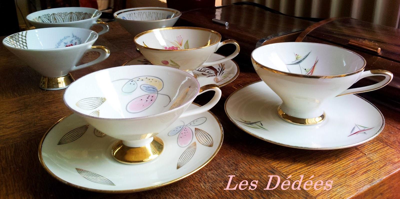 les dedees vintage recup creations tasses 50 39 s les charmantes by anne. Black Bedroom Furniture Sets. Home Design Ideas