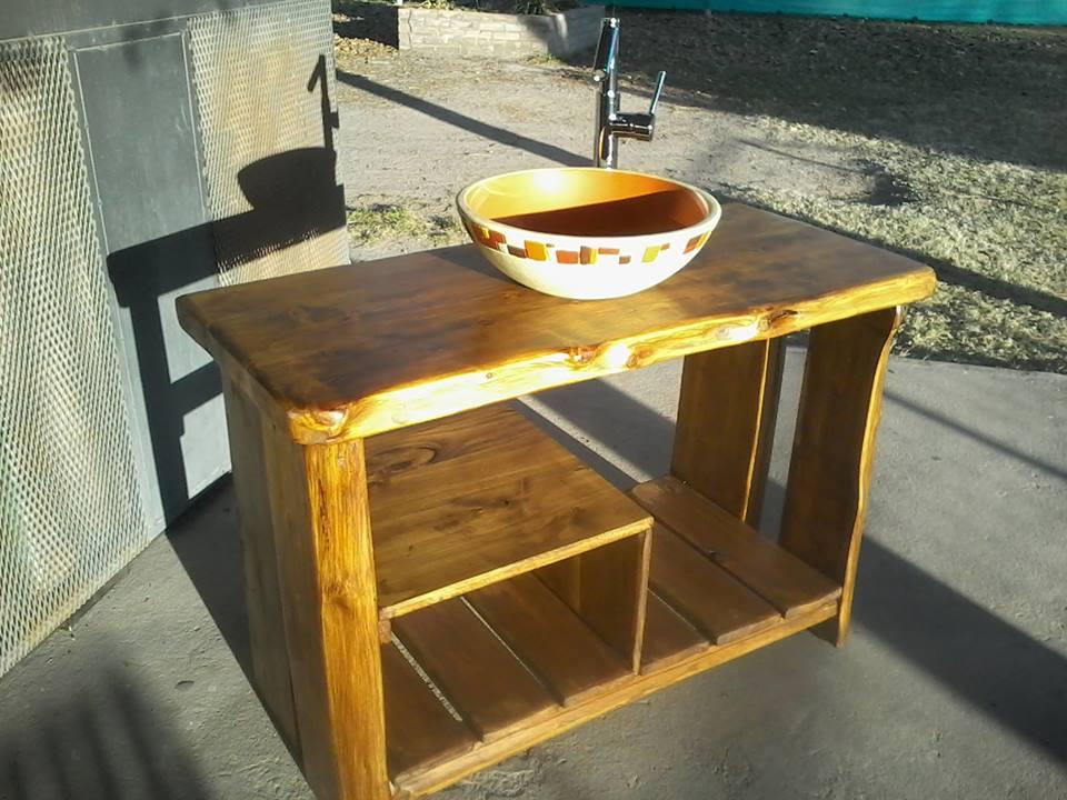 Arte rustika muebles rusticos artesanales vanitorys - Muebles rusticos para bano ...