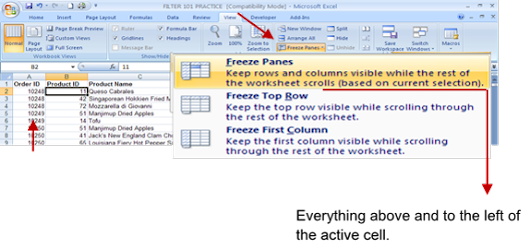 Excel Tip - Viewing a Worksheet