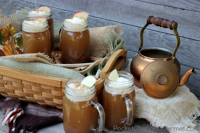 Warm Spiced Cranberry Cider by Pocket Change Gourmet
