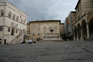 Perugia's Piazza IV Novembre is one of the city's main squares, home to the city's cathedral