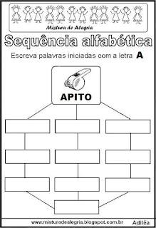 Sequência alfabética letra A