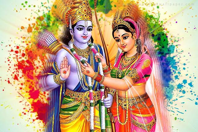 Lord Ram & Sita Holi  Wallpaper