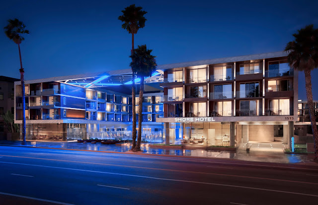 The Shore Hotel is an eco-friendly boutique hotel that boasts bright and airy oceanfront rooms that are walking distance from the famous Santa Monica Pier.