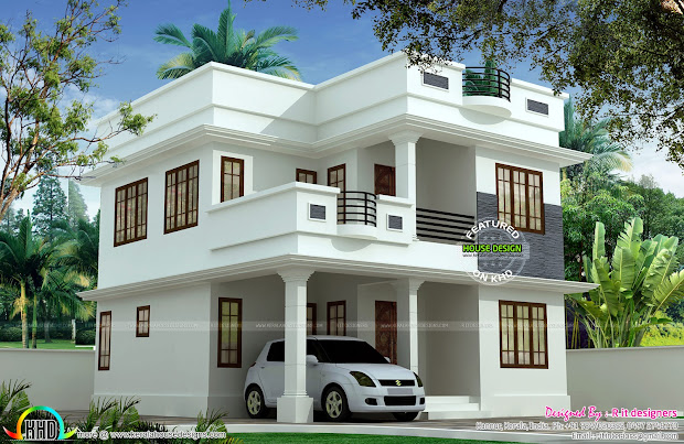Small Two-Story House Designs in Kerala