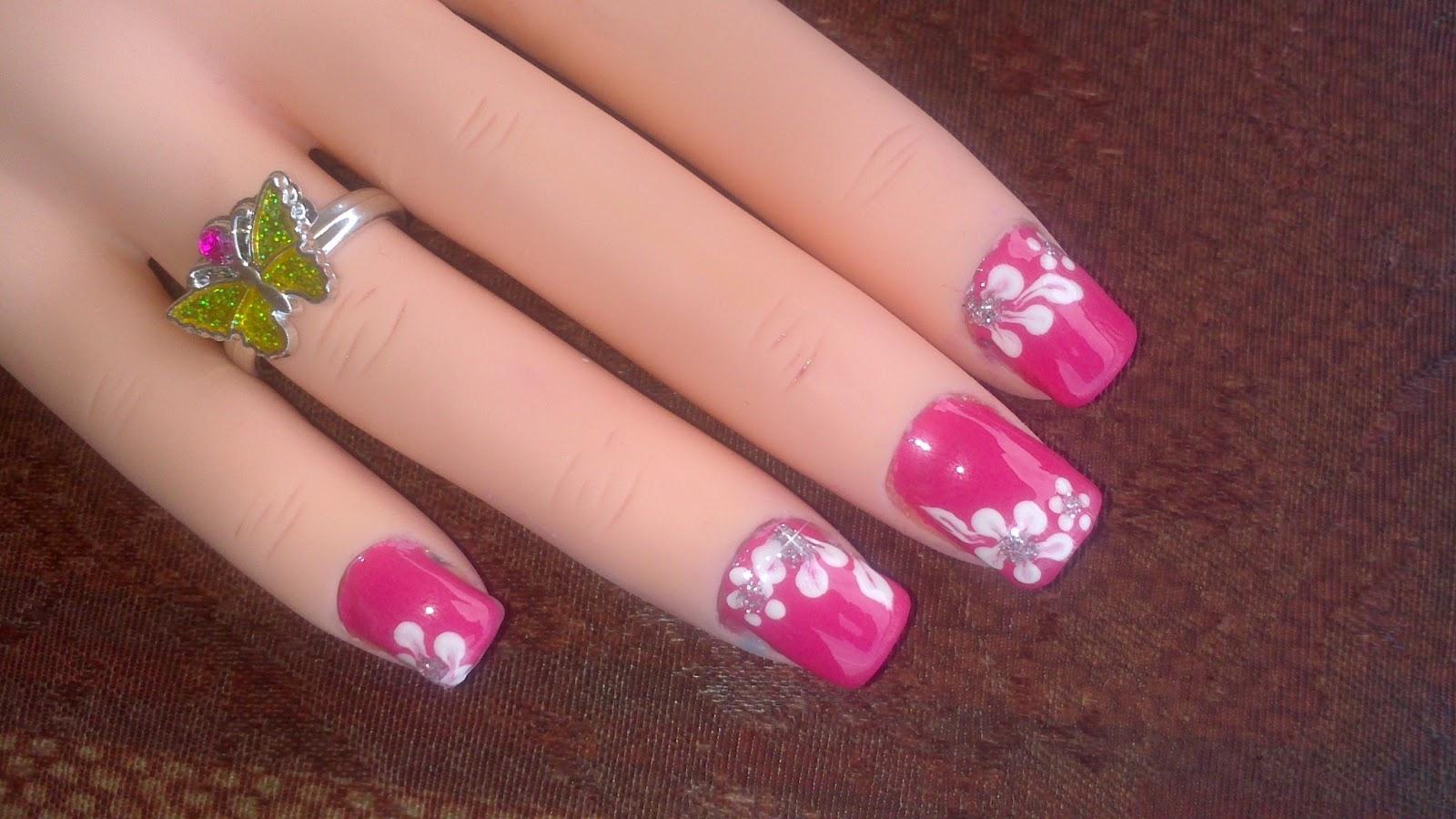 Lnetsa 39 s nailart toe nail design short nails version - Easy nail designs for short nails at home ...