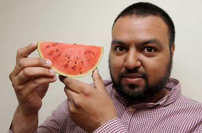 Pria Inggris temukan semangka berlafadz Allah