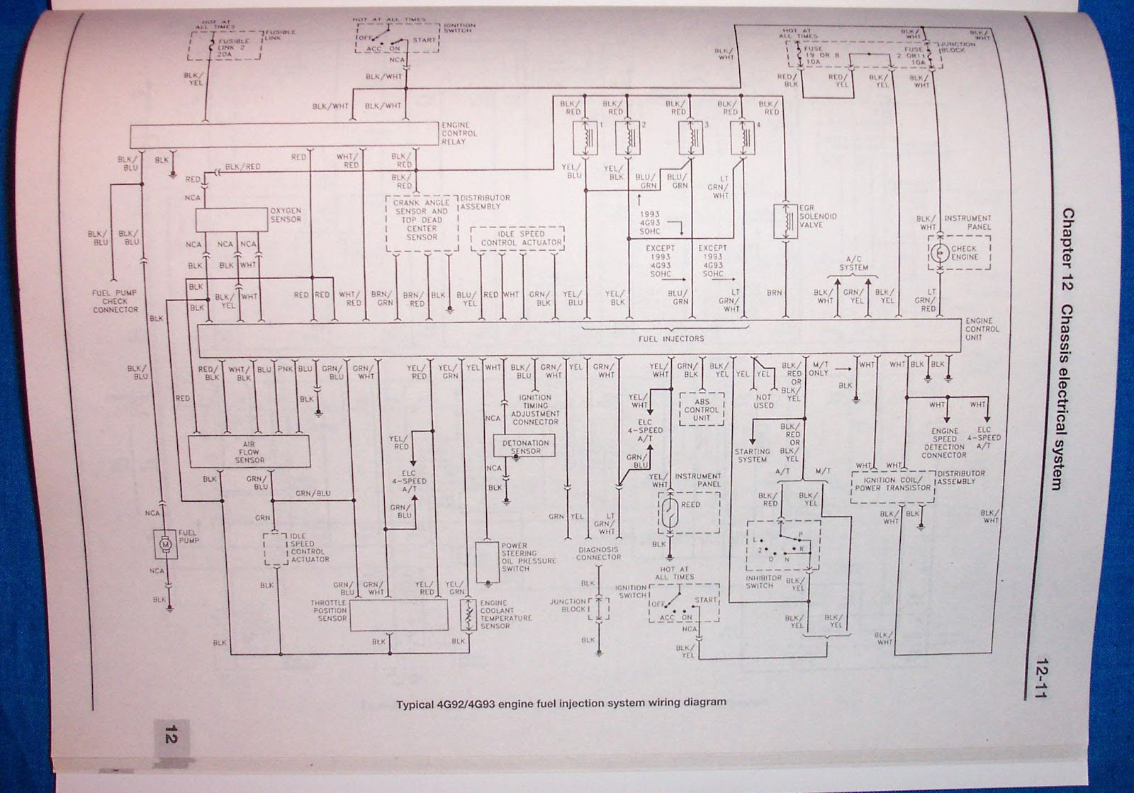 small resolution of electrical wiring diagram for 4g9x