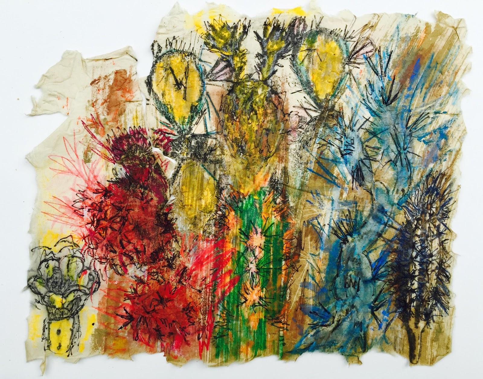 cactus artwork art solutions by susan detroy