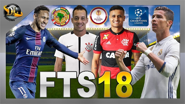 Download First Touch Soccer (FTS) 18 Mod PES Deluxe Edition Apk Data Full Transfer NEYMAR
