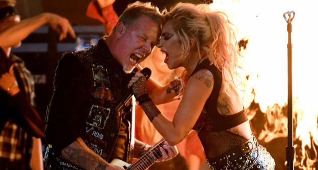 Moth Into Flame, Lady GAGA Lars Ulrich Metallica