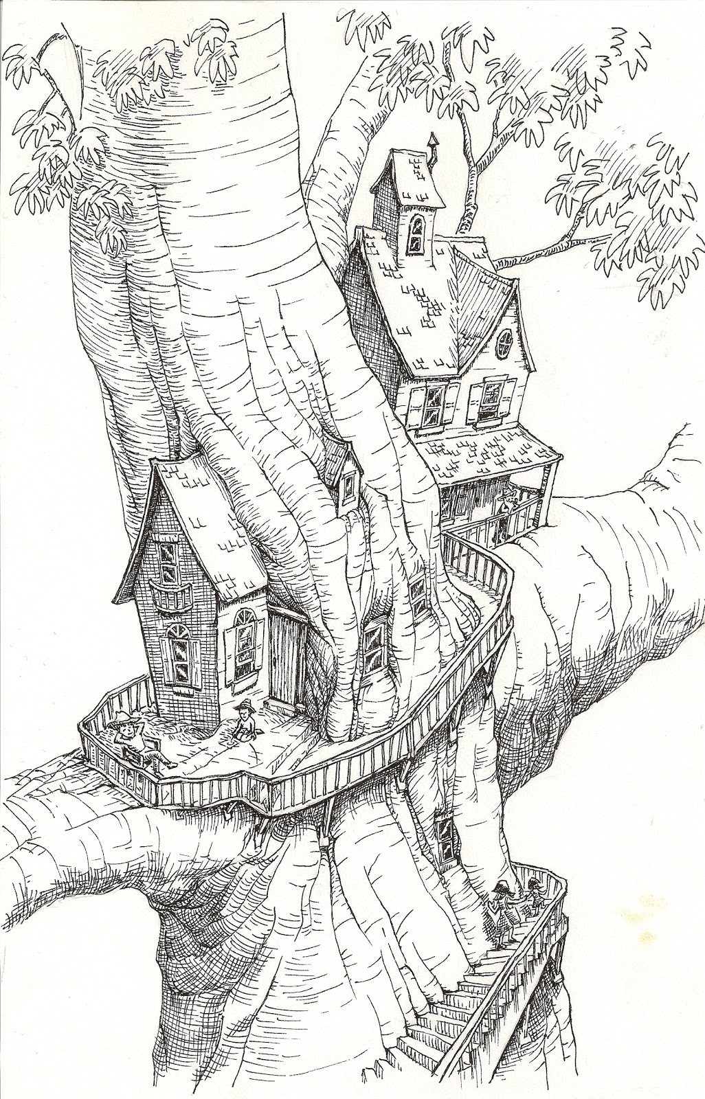 Mansion Drawing: Drawing On My Imagination: April 2011