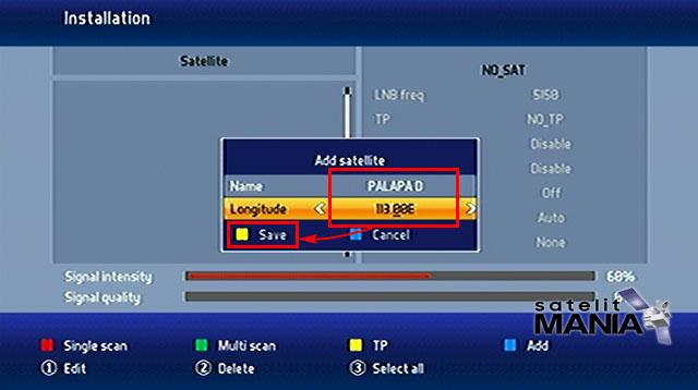 Cara Menambah Satelit Palapa D di Parabola