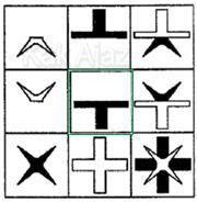 Pembahasan Soal Figural No. 41 TKPA SBMPTN 2016 Kode Naskah 321, pola gambar: gabungan dua objek, inversi warna