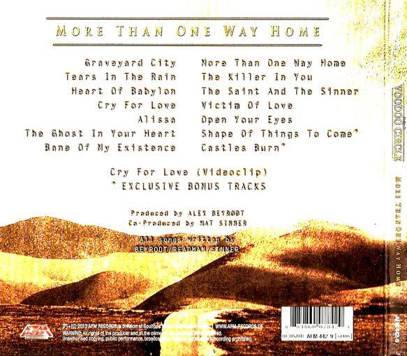 VOODOO CIRCLE - More Than One Way Home [LTD Edition Digipak +2] back