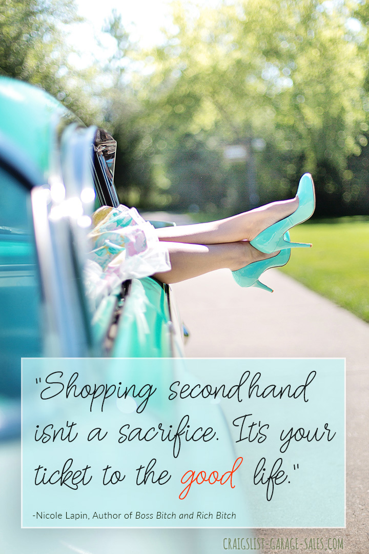 Shopping secondhand is your ticket to the good life!