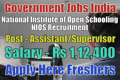 NIOS Recruitment 2019