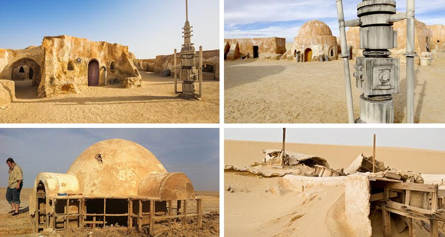 Locaţia filmărilor pentru trilogia originală Star Wars Tunisia, Maroc