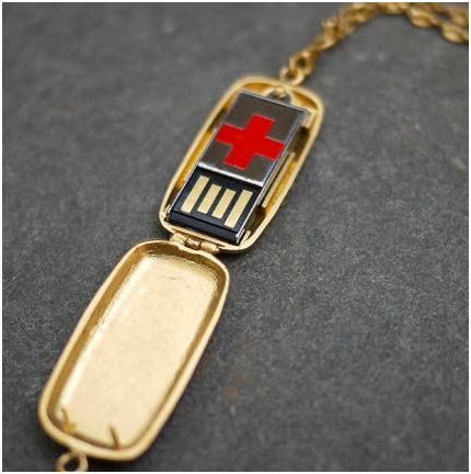 usb medic alert bracelet usb info locket by emily rothschild the beading 1697