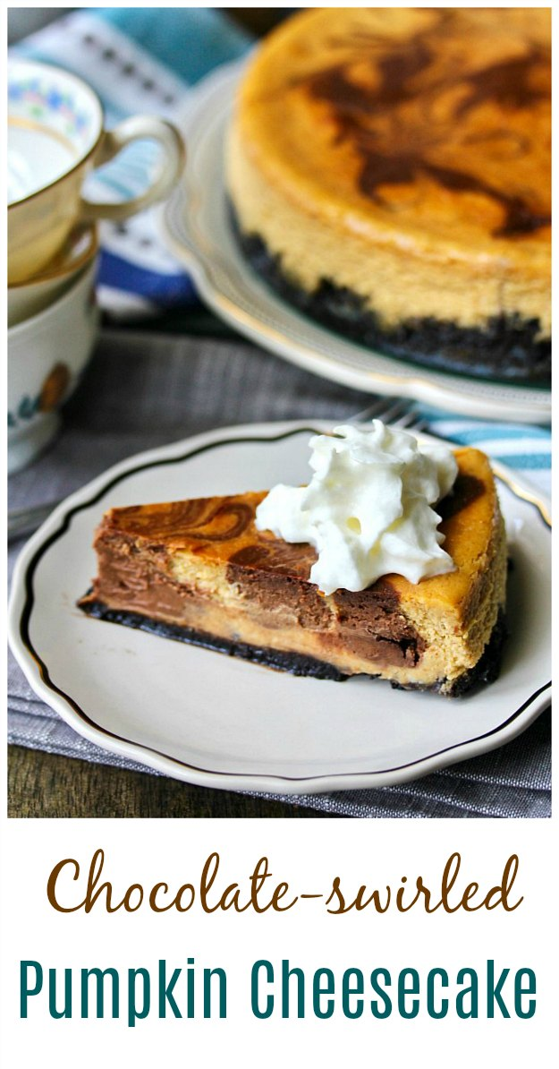 Chocolate and Pumpkin Cheesecake #cheesecake #pumpkin