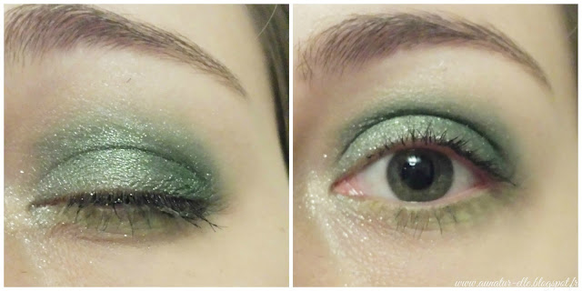maquillage vert pour yeux verts