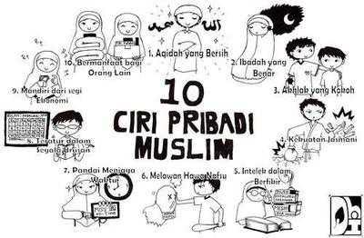 10 Karakter atau Ciri Khas Pribadi Muslim Sejati