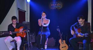 Deborah Balgass - vocals, Sebastien Adnot-guitar right, Mystery Man-guitar left