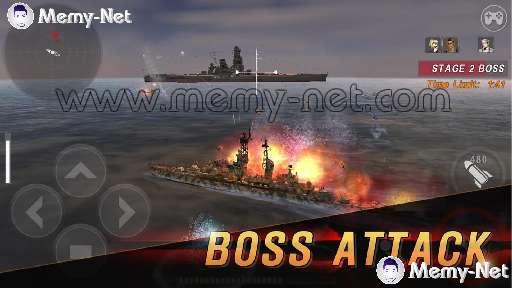تحميل لعبة السفن الحربية WARSHIP BATTLE MOD مهكرة فلوس لا نهائي للاندرويد
