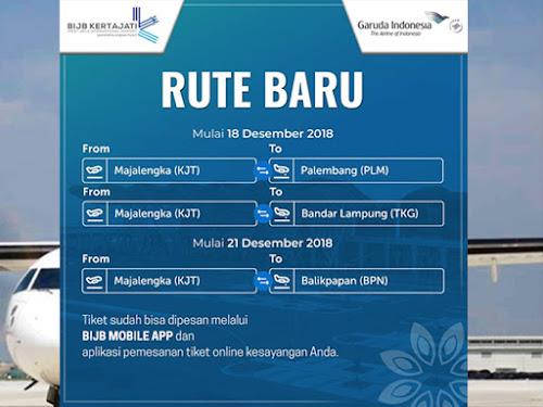 Rute baru Garuda Kertajati - Palembang