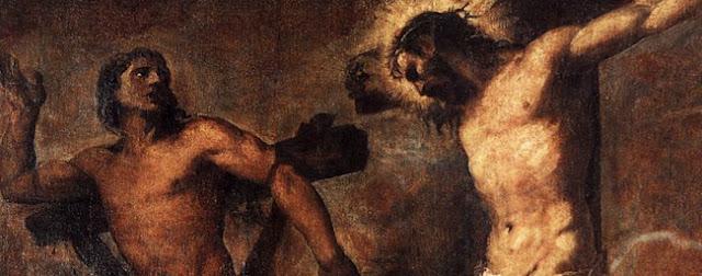 Le bon larron sur la croix par Titian